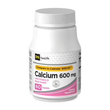 DG Health Calcium 600 mg with Vitamin D - Caplets, 60 ct