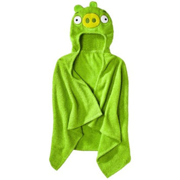 Jay Franco Angry Birds Hooded Towel - Green (23x51