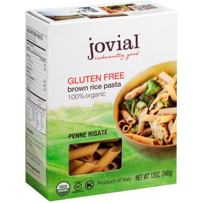 Jovial Penne Rigate, Brown Rice, 12 Ounce (Pack of 6)