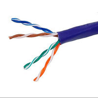 Monoprice 1000FT 24AWG Cat5e 350MHz UTP Stranded, In-Wall Rated (CM), Bulk Ethernet Bare Copper Cable - Purple
