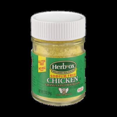 Herb-Ox Sodium Free Chicken Granulated Bouillon