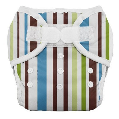 Thirsties Duo Diaper, Cool Stripes, Size One (6-18 lbs)