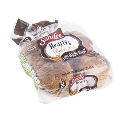 Sara Lee Hearty & Delicious Bakery Buns 100% Whole Wheat - 8 CT