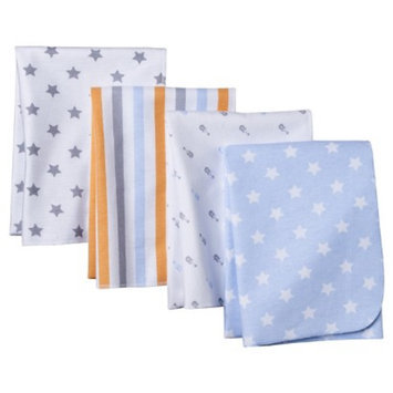 4pk Flannel Receiving Blankets - Stars by Circo