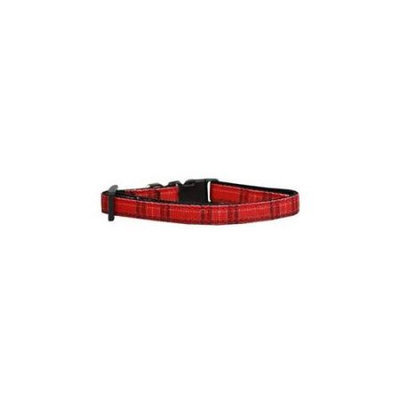 Ahi Plaid Nylon Collar Red XS