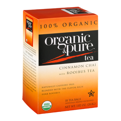 Organic & Pure Tea Cinnamon Chai with Rooibus Tea - 18 CT