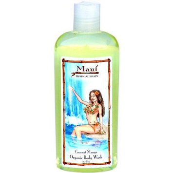 Maui Tropical Soaps Hair and Body Wash Coconut Mango, 8.5-Ounce