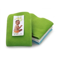 Thirsties 3 Pack Boys Fab Doublers Soft Cotton Velour, Ocean Blue/Meadow/White, Small