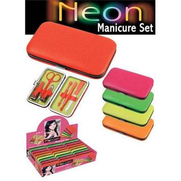 Puka 3185 2.5 x 8 x 5 Neon Manicur Set - 24 Pieces Unit