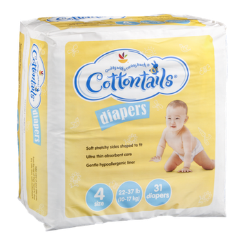 Cottontails Diapers - Size 4 22-37 lb