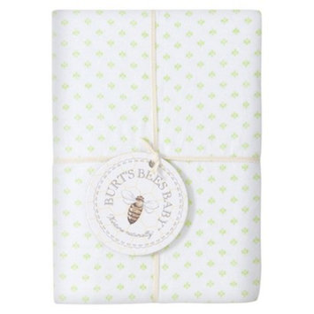 Burt's Bees Baby Organic Dottie Bee Knit Crib Sheet - Mint
