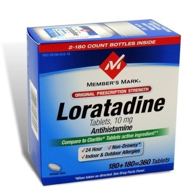 Members Mark Member's Mark Loratadine 10mg (Compare To Claritin), 360-Count