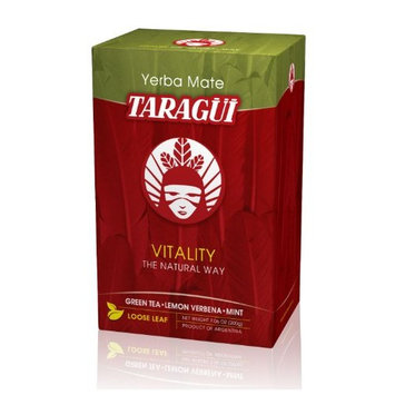 Taragui Vitality Yerba Mate with Green Tea, Lemon Verbena & Mint Loose Leaf Tea, 7.06-Ounce Packages (Pack of 5)
