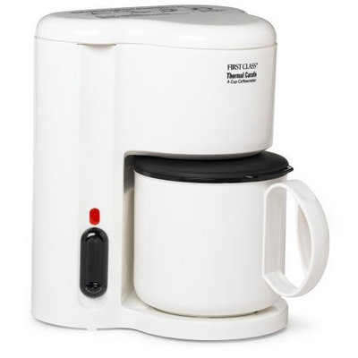 Jerdon CM21W 4-Cup Automatic Shut-Off Coffee Maker with Non-Breakable Thermal Carafe, White Finish