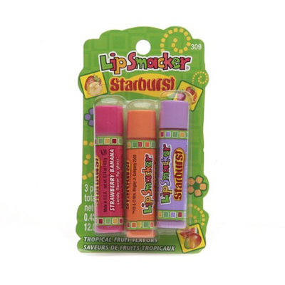Bonne Bell Lip Smacker Starburst Tropical Fruit Flavors Candy Flavor Lipgloss Trio