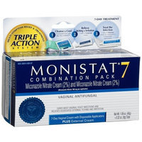 Monistat Combination Pack, 7-Day Cream with Disposable Applicators & External Cream