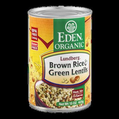 Eden Organic Brown Rice & Green Lentils