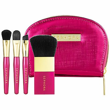 SEPHORA COLLECTION Out of Pocket Beauty Brush Set Pink