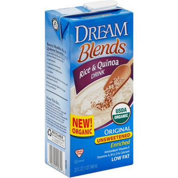 Dream Blends Original Unsweetened Rice & Quinoa Drink, 32 fl oz, (Pack of 6)