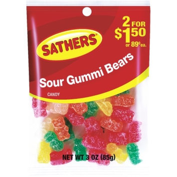 Sathers 3 Oz Sour Gummi Bears (01308)