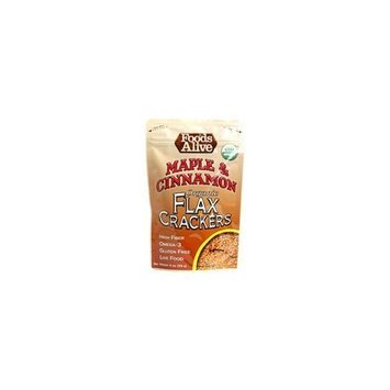 Foods Alive Organic Flax Crackers Maple and Cinnamon -- 4 oz