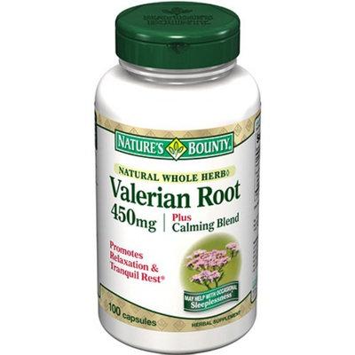 Nature's Bounty Valerian Root 450 mg plus Calming Blend, Capsules, 100 ea