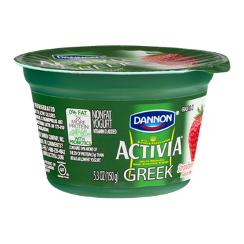 Dannon Activia Greek Nonfat Yogurt Strawberry Patch
