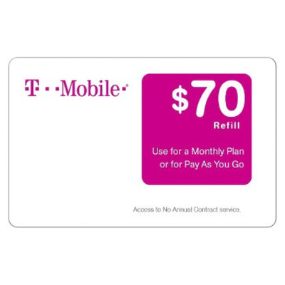 T-Mobile $70 Prepaid Card (email delivery)