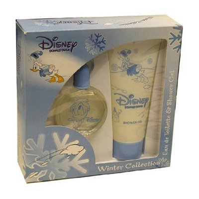 Donald Duck By Disney For Men. Gift Set ( Eau De Toilette Spray 1.7 Oz + Shower Gel 6.8 Oz).
