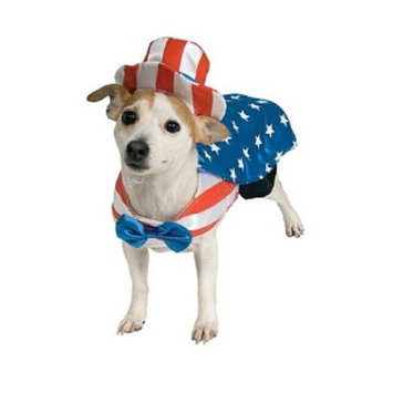 Rubies Costumes Uncle Sam Dog Costume, Large, 1 ea
