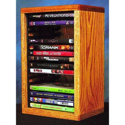 Wood Shed Desktop DVD Storage w Individual Locking Slots (Clear)