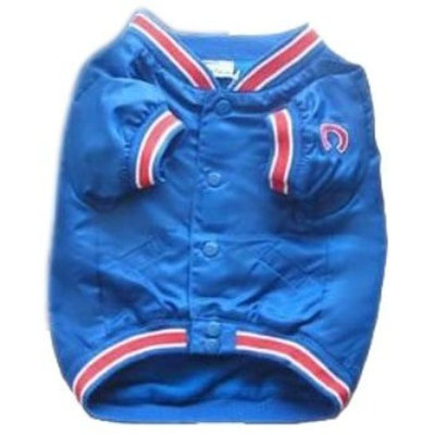Sporty K9 MLB Chicago Cubs Dog Dugout Jacket - Royal Blue