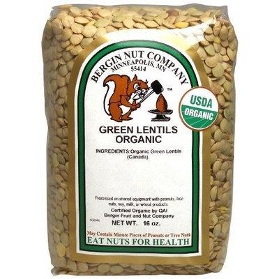 Bergin Nut Company Organic Green Lentils, 16-Ounce Bags (Pack of 6)