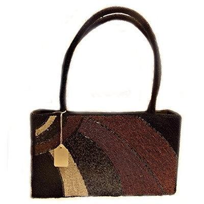Stone Mountain Inc., Women Beaded Shiny Glimmering Shoulder Tote or Handbag Ladies Purse Bag []