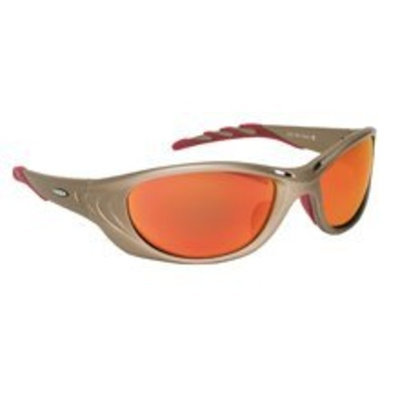 AOSafety Ao Safety Glasses Fuel Series Metallic Sand Frame - Red Mirror Lens