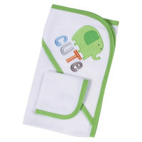 Gerber Newborn 2 Piece Bath Set - Green/White