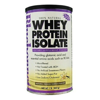 Bluebonnet Nutrition - 100% Natural Whey Protein Isolate Powder Natural French Vanilla Flavor - 1 lb.