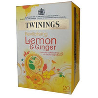 Twinings Herbal Tea, Lemon & Chinese Ginger, 20 Teabag Box (Pack of 6)