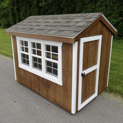 A And L Furniture Co A & L Furniture Henny Penny Chicken Coop Charcoal Brown Stauffer Red