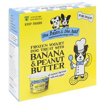 The Bear & The Rat Cool Treats For Dogs Banana Peanut Butter Frozen Yogurt
