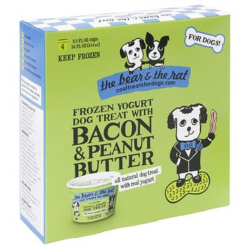 The Bear & The Rat Cool Treats For Dogs Bacon Peanut Butter Frozen Yogurt