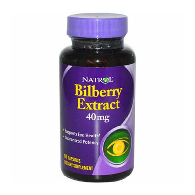 Natrol Bilberry Extract 40 mg 60 Capsules