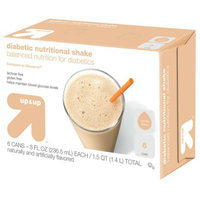 Up & Up Vanilla Diabetic Nutritional Shakes 8 fl oz - 6 Bottles