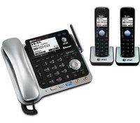 AT & T TL86109 + (1) TL86009 DECT 6.0 Cordless Phone