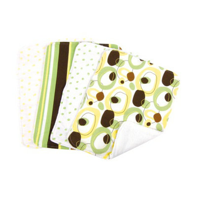Trend Lab 5 Pc. Burp Cloth and Bottle Bag Set - Giggles by Lab