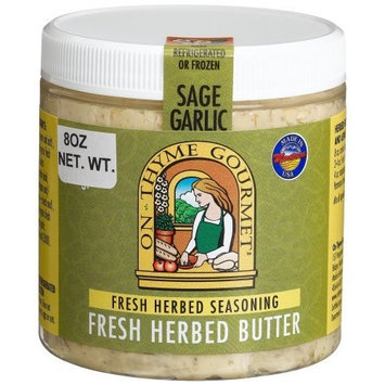 On Thyme Gourmet Fresh Herb Butter Sage Garlic, 8-Ounce Plastic Jars (Pack of 3)