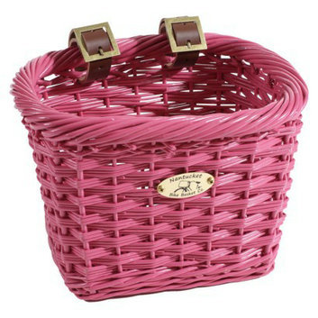 Cycle Force Nantucket Bicycle Basket Co. Gull Collection Rectangle Basket - Pink