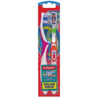Colgate 360 Degree Adult Full Head, Soft Twin Powered Toothbrush, 2-Count