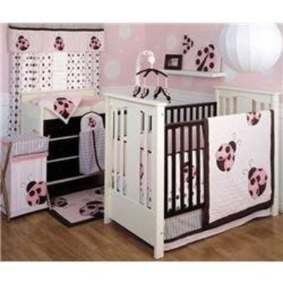 Kidsline Kids Line 4 Pc. Crib Set - Mod Lady Bug