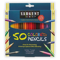 Sargent Art 22-7251 50-Count Assorted Colored Pencils [1 Pack]